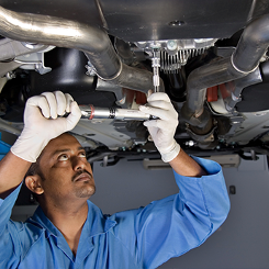 Man Working on Car Maintenance